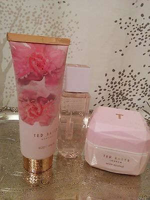 Ted Baker London Boots UK Body Spray Body Wash Body Souffle 3 Pc