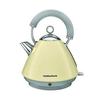 Morphy Richards 102032 Accents Pyramid Kettle Rapid Boil 1.5 Litre Cream