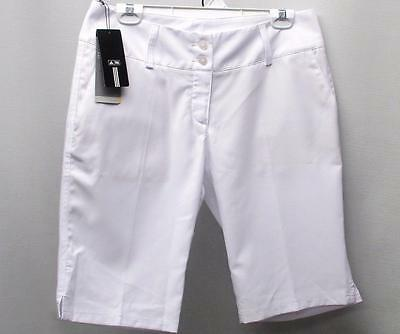 New Ladies Size 8 Adidas ClimaLite 100% polyester bermuda golf shorts White