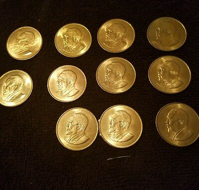 1967 Kenya 10 Cents Coin Unc Lot Of 11