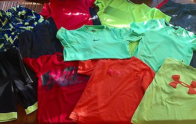 Used LN Lot of Athletic Boys Clothes- Sizes S & M- Nike, Under Armour, and More