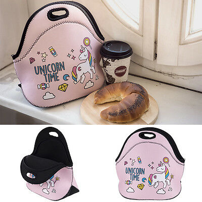 1Pcs Thermal Insulated Lunch Bag Unicorn Dessert Women Kids Lunchbags