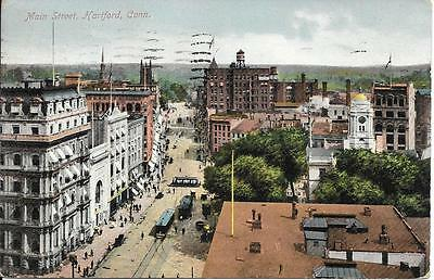 Main Street Hartford CT nice postcard postally used and postmarked in 1909