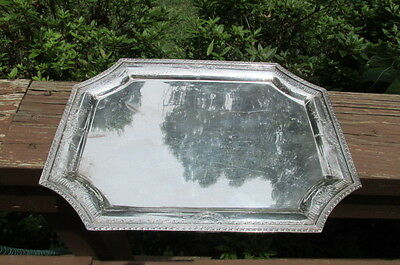 Antique Silverplate Barbour International 5328 Classistic Chased Tray Ornate