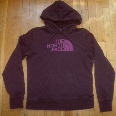 THE NORTH FACE Hooded Sweatshirt Hoodie Womens Small Purple