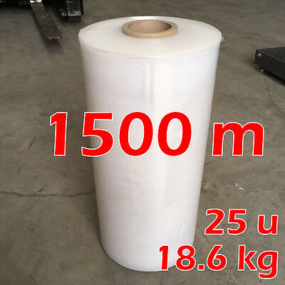 Shrink Stretch Machine Wrap CLEAR Hand Film for Pallet Carton [ 1500m 25UM ]