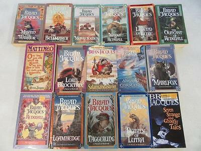 BIG Lot of (16) BRIAN JACQUES Fantasy Books REDWALL SERIES The Angel's Command