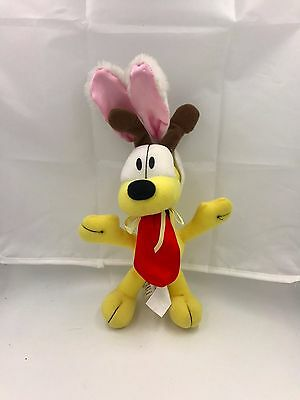Vintage Odie ( Garfield ) w Easter Bunny Ears Plush Stuffed Toy - Play by Play
