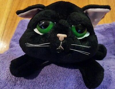 Russ Berrie Large 'shadow' Cat Black 28Cms Plush Rare