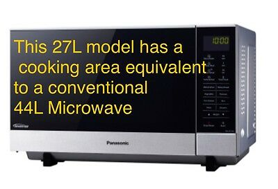 Panasonic 1000W 27L Stainless Steel Flatbed Microwave Oven Nn-Sf574S
