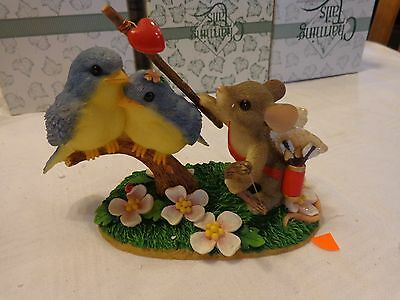 """Charming Tails """"Love Birds""""  Fitz and Floyd Valentines Day"""
