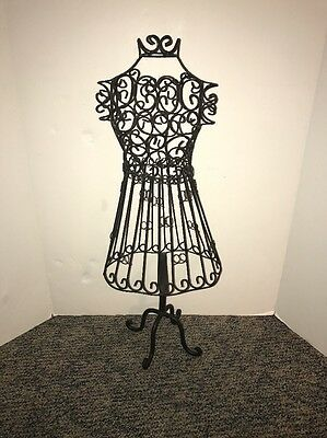 Tall Decorative metal dress form mannequin Boutique stand sewing form 27.5""