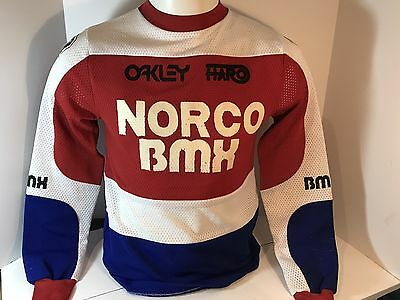 Norco BMX Jersey Vintage HARO OAKLEY Old School motocross racing youth XL HTF!
