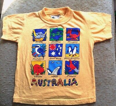 Gooses T-Shirts Australia Animals Short Sleeve Tee Shirt Top Sz 2 100% Cotton