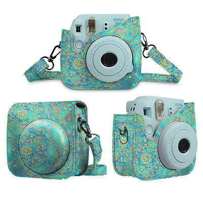 New Fujifilm Instax Mini 8+ Mini 8 Mini 9 Instant Camera Leather Bag Cover Case