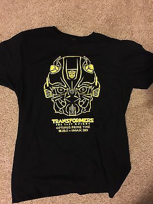 Transformers The Last Knight IMAX Movie Large Bumblebee T-Shirt