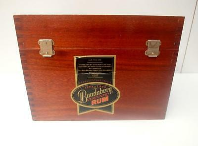 SMALL Collectable VINTAGE Timber BUNDABERG RUM Box CENTENARY QZZQ Adelaide