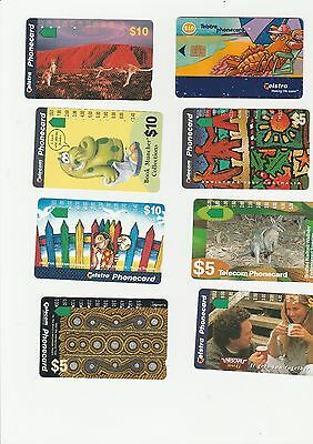 Selection of 12 Telecom / Telstra and one foreign Phonecards (used)