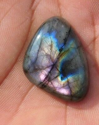 34.65 Cts Marvelous 100% Natural Labradorite 30X22X7 Mm Cabochon Gemstone