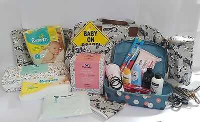 Pre Packed Maternity Hospital Changing Bag with Essential 16 Products