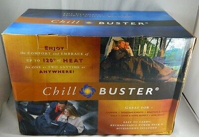New CHILL BUSTER Self-Contained Rechargeable Heated Blanket Cold Weather Gear