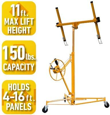 Drywall Panel Hoist Lifts Tool Cables Rolling Casters Sheets Extension Reach