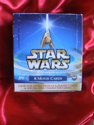 Collectible Starwars Attack Of The Clones Topps Movie Cards Boxed And Sealed
