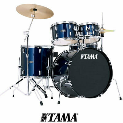 Tama Stagestar 5pce Dark Blue Drum kit inc 14 16 Cymbal Set Pack and throne