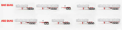 New Drake Maxitrans Freighter BAB Or ABB Quad Road Train Trailer Betts Bowe 1:50