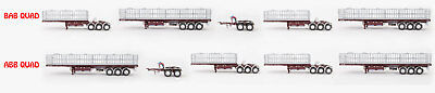 New Drake Maxitrans Freighter BAB Or ABB Quad Road Train Trailers Burgundy 1:50