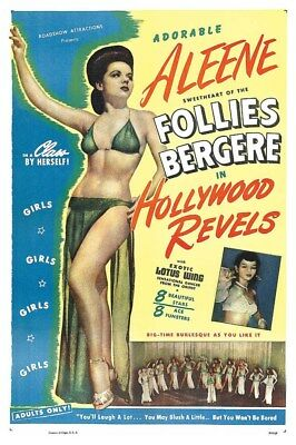 Sexploitation Burlesque Hollywood Revels 1946 Follies Bergere Movie Poster