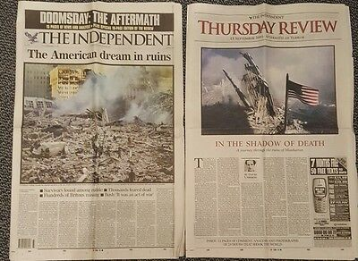 """The Independent Newspaper, September 13th 2001 - """"Aftermath of terror"""""""