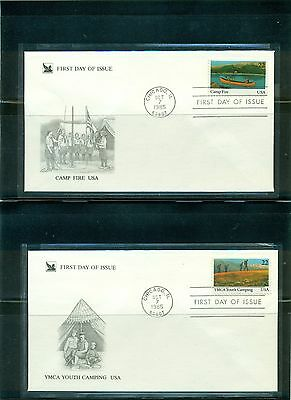 1985 Youth Year set #2160-63 on unaddressed Readers Digest cachet FDC
