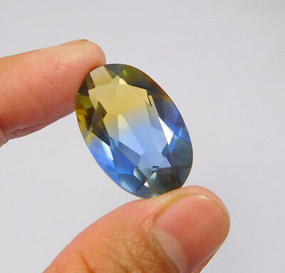 20 Cts. Treated Faceted Oval Shape Ametrine Cut Loose Cab Gemstone NG1924