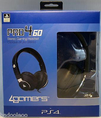PlayStation 4 PRO4-60 Stereo Gaming Headset - Black New Sealed In Box