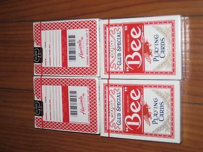 """Hacienda Hotel Casino """"bee""""club Special Playing Cards 4 Decks Sealed No Holes Or"""