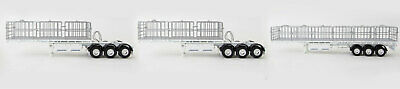 New Drake Maxitrans Freighter B-Triple Road Train Trailer White 1:50 ZT09124