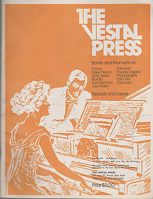 The Vestal Press Catalogue No. 14, 1978 - Player Pianos, Music Boxes, Organs