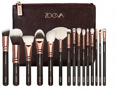 UK Hot 15Pcs/12Pcs/8Pcs Sale Zoeva Makeup Brush Set + Zipper Bag 100% Genuine