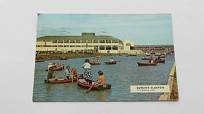 Postcard Clacton Butlins, The Boating Lake. Posted 1965.