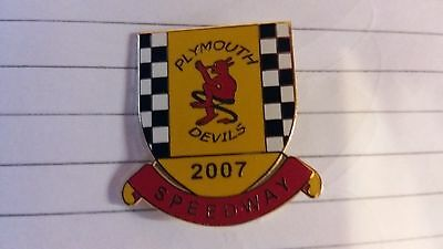 Plymouth Devils Speedway Badge