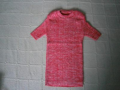 Vintage Stretch Skinny Rib Top - Age 10 - Red Fleck - Short sleeve -Danish - New