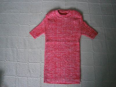 Vintage Stretch Skinny Rib Top - Age 8 - Red Fleck - Short sleeve -Danish - New