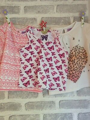 Girls Summer Tops X 3 Age 18-24 Months