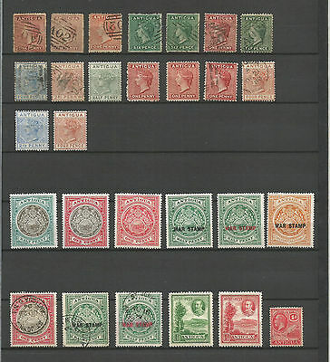 Antigua 1872 / 1932, 28 Stamps, Mint & Used