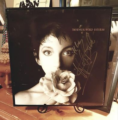 Kate Bush *RARE SIGNED* SENSUAL WORLD VINYL w/Ticketstub MINT CONDITION FRAMED