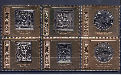Lesotho  Rare  Stamps  Of  The  World  In  Gold  Nice  Set!