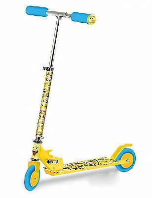 Ozbozz Emoji Kids Adjustable Folding Scooter In Yellow & Blue [Ages 5+]