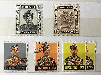 BRUNEI 5 x stamps used & mint. (see scan)