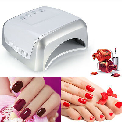 60W LED Lampe UV Nail Art Dryer Cure CCFL Gel Acrylique Polonais Manucure FRX